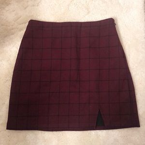 Burgundy plaid Abercrombie and Fitch Skirt